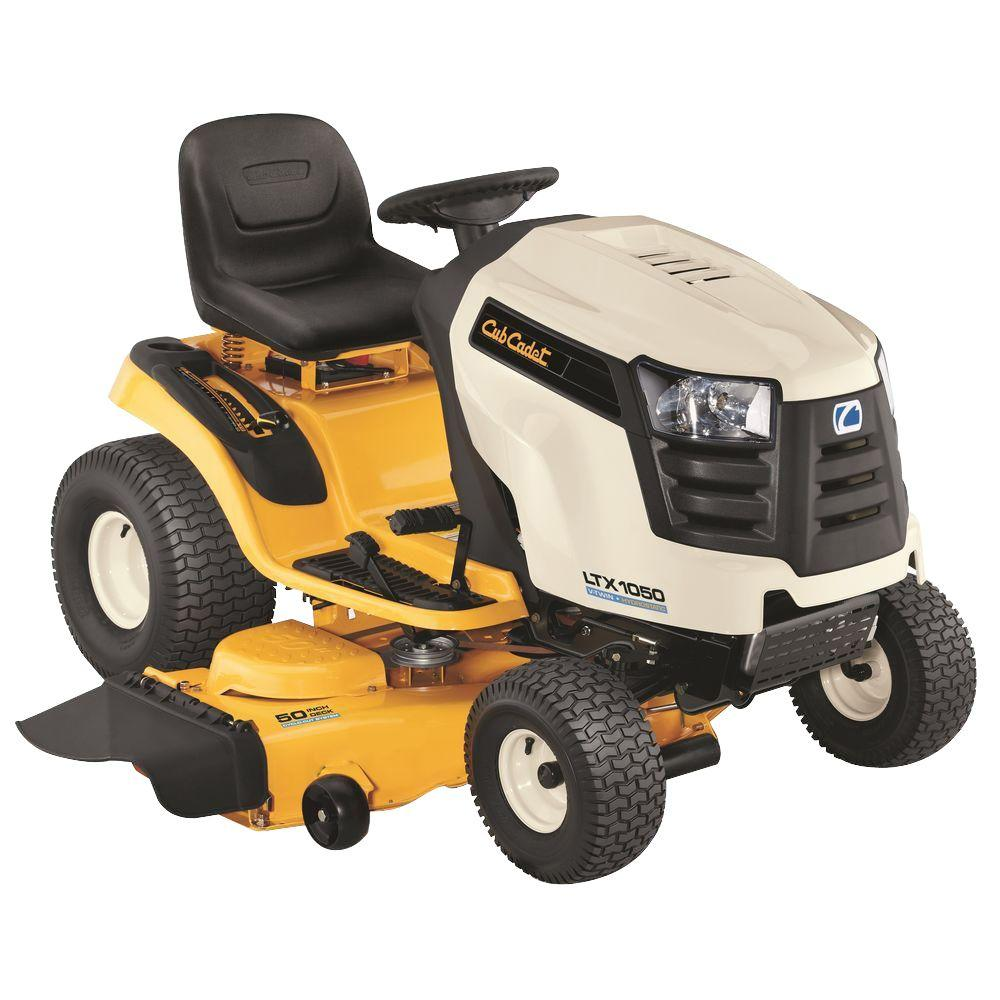 hight resolution of cub cadet ltx1050 50 in 24 hp v twin gas hydrostatic drive front engine lawn tractor