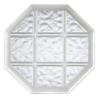 Hy-Lite 23.25 in. x 35.25 in. Decorative Glass Fixed Oval ...