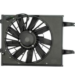 radiator fan assembly without controller 1996 1998 nissan quest [ 1000 x 1000 Pixel ]