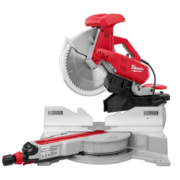 Milwaukee 12 In. Dual Bevel Sliding Compound Miter -6955-20 - Home Depot