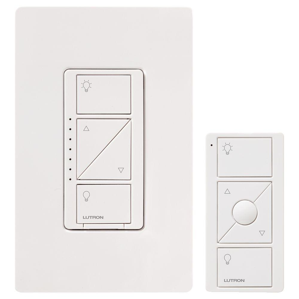 hight resolution of caseta wireless smart lighting dimmer switch and remote kit for wall and ceiling lights white