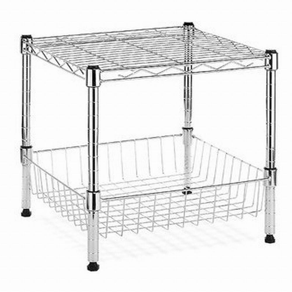 HDX Modular 14.75 in. x 13.8 in. Stacking Shelf with
