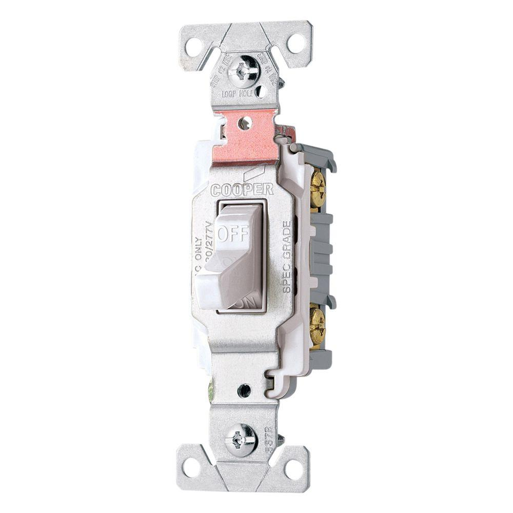 medium resolution of shop cooper wiring devices 30amp white single pole light switch at cooper wiring diagram single pole light switch