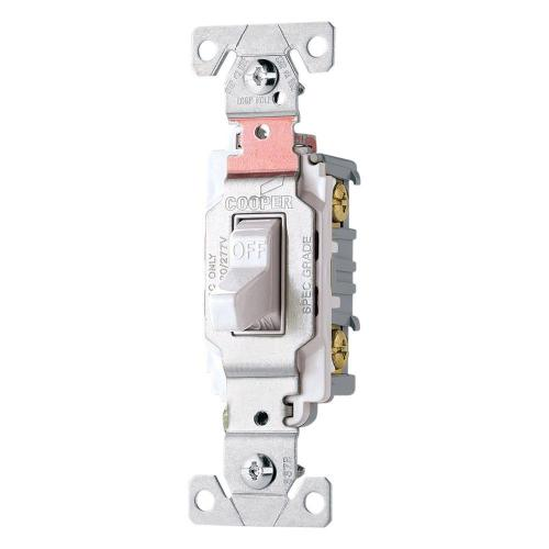 small resolution of shop cooper wiring devices 30amp white single pole light switch at cooper wiring diagram single pole light switch