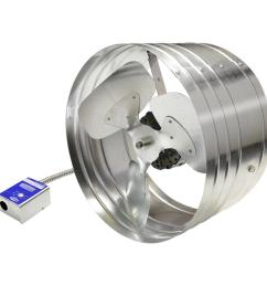 master flow 1600 cfm power gable mount attic fan with humidistat thermostat [ 1000 x 1000 Pixel ]