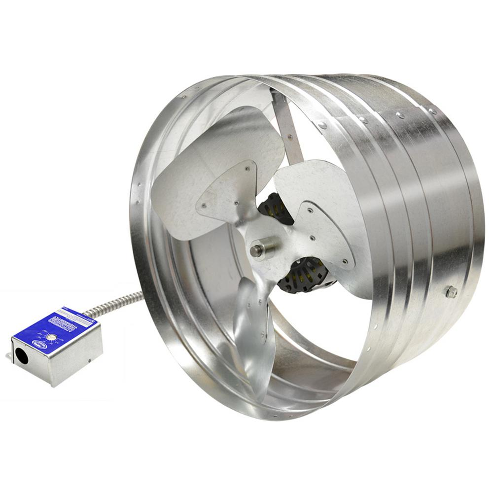 medium resolution of master flow 1600 cfm power gable mount attic fan with humidistat thermostat