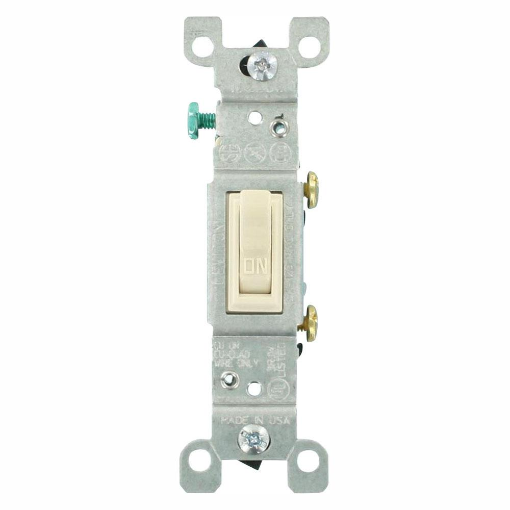 Leviton 15 Amp Singlepole Toggle Switch Ivoryr510145102i The