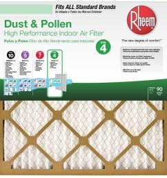 rheem 16 in x 25 in basic household pleated air filter case of 1216 in [ 1000 x 1000 Pixel ]
