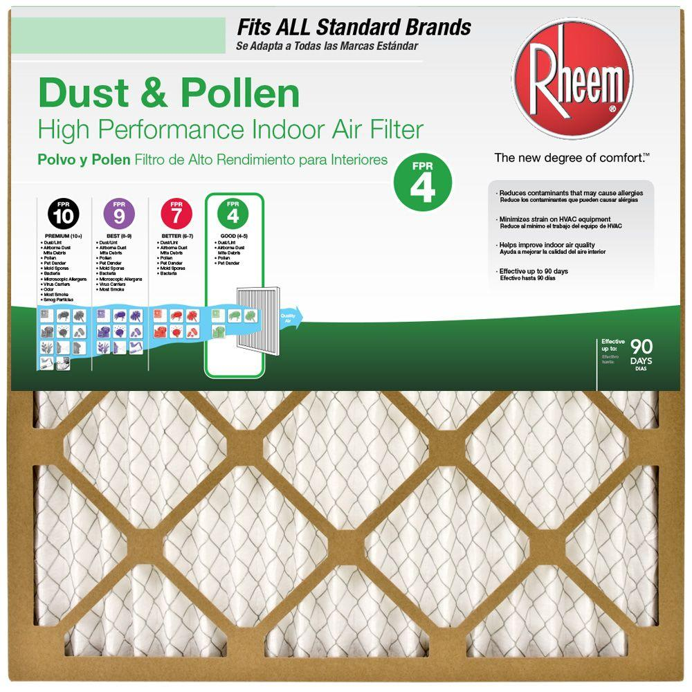 medium resolution of rheem 16 in x 25 in basic household pleated air filter case of 1216 in