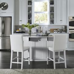White Kitchen Islands Home Depot Backsplash Tile Styles Linear Island And 2 Bar Stools 8000 948