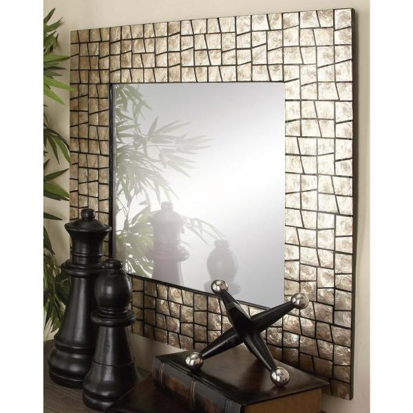 Antique Chic Aged White And Gold Decorative Framed Wall