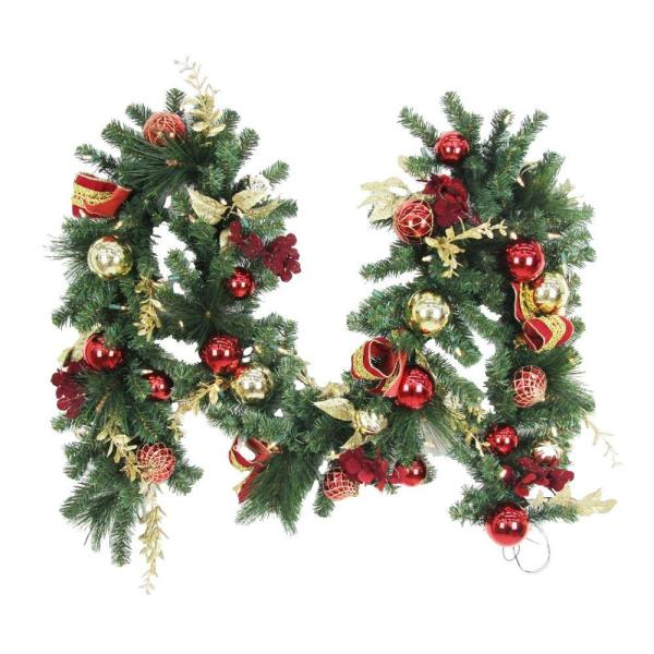 Battery Operated Christmas Garland with Lights