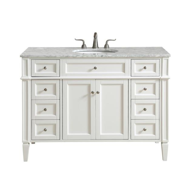 Nanticoke 48 in. Single Bath Vanity w/ 8 Drawers 1 Shelf 2 ... on {keyword}