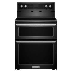 Kitchen Aid Pro 500 Window Valance Kitchenaid 30 In. 6.7 Cu. Ft. Double Oven Electric Range ...