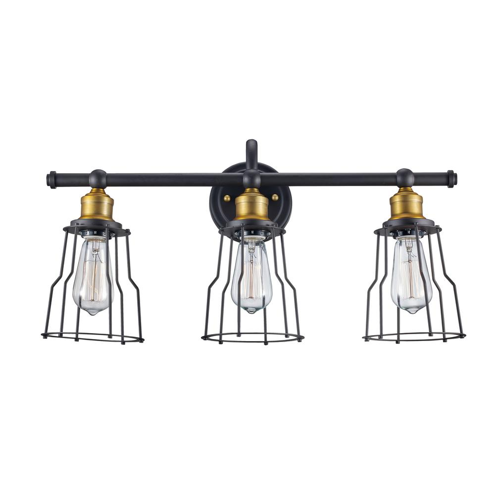 Bel Air Lighting Constitution 3-Light Rubbed Oil Bronze