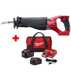 milwaukee m18 fuel 18 volt lithium ion brushless cordless sawzall reciprocating saw with one [ 1000 x 1000 Pixel ]