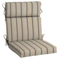 High Back Lawn Chair Cushions Mesh Seat And Office Beige Tan Outdoor The Home Depot 21 5 X 20 Sunbrella Cove Pebble Dining Cushion