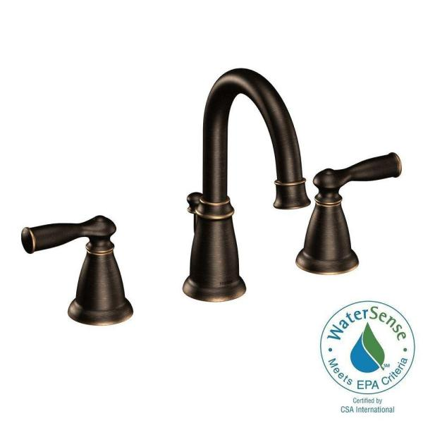 Moen Banbury 8 In. Widespread 2-handle Bathroom Faucet In