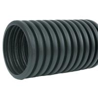 4 in. x 10 ft. Corrugated HDPE Drain Pipe Solid with Bell ...