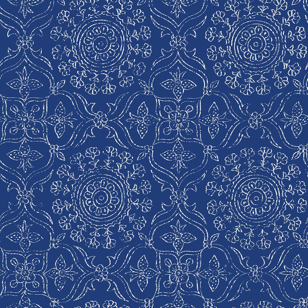 nuwallpaper blue byzantine peel