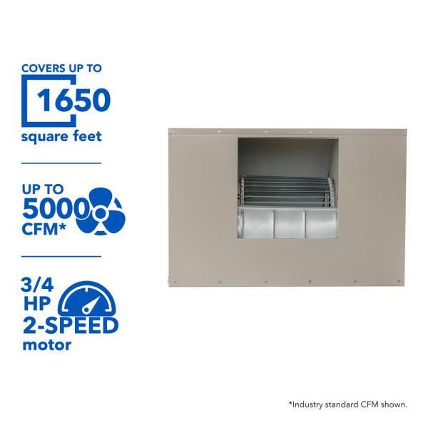 Mastercool 3200 Cfm Slim Profile Window Evaporative Cooler 1600 Sq. Ft.-mcp44 - Home Depot
