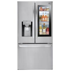 lg electronics 28 cu ft 3 door french door smart refrigerator with instaview door [ 1000 x 1000 Pixel ]