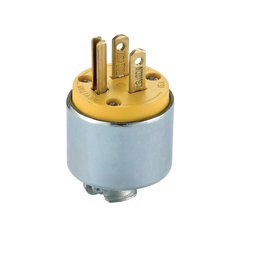medium resolution of leviton 15 amp 125 volt 3 way straight blade grounding plug