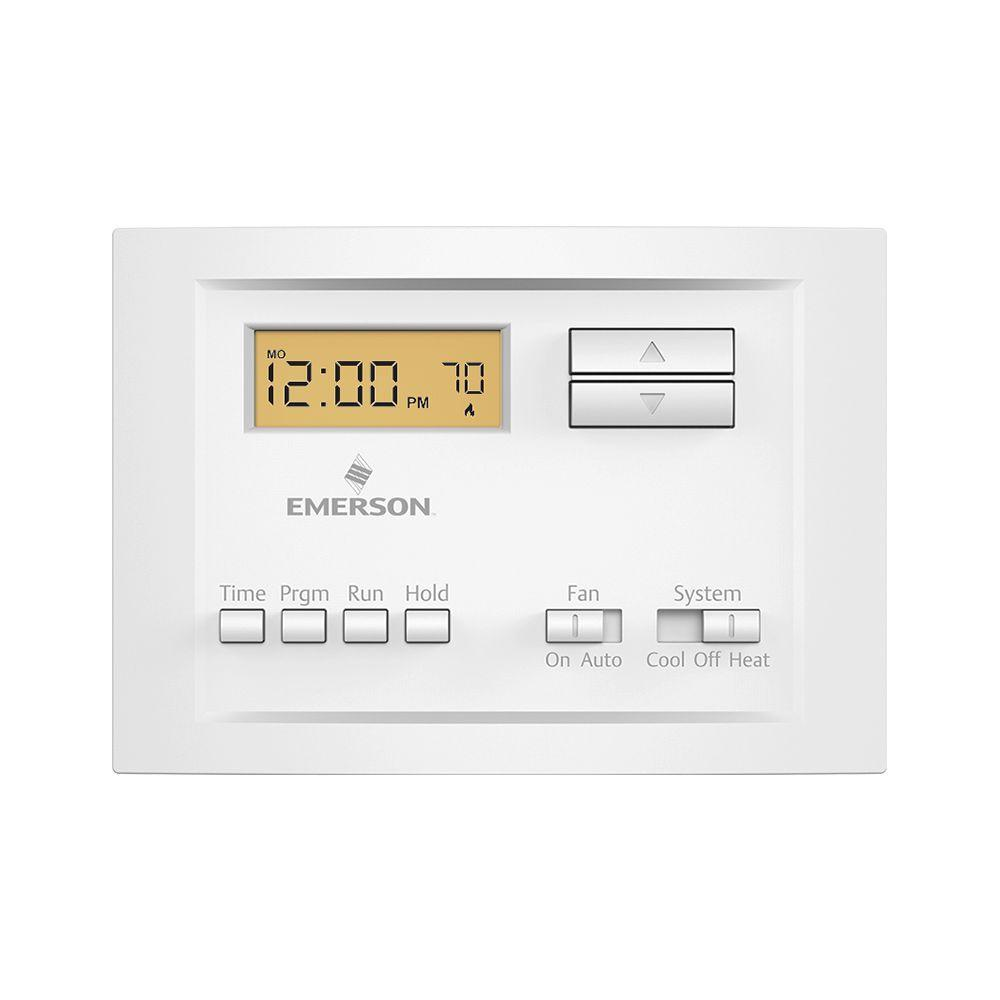 hight resolution of single stage 5 2 day programmable thermostat
