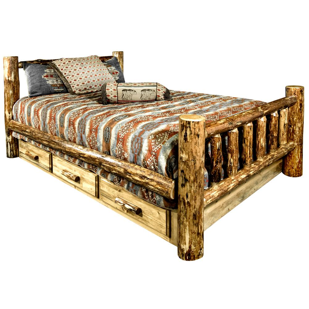 montana woodworks glacier country puritan pine queen storage bed mwgcsbq the home depot