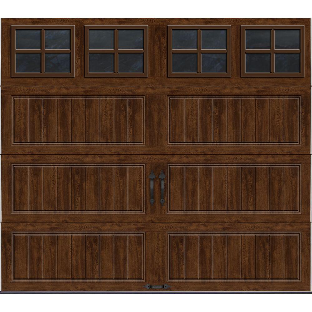 Clopay Gallery Collection 8 ft x 7 ft 65 RValue Insulated UltraGrain Walnut Garage Door