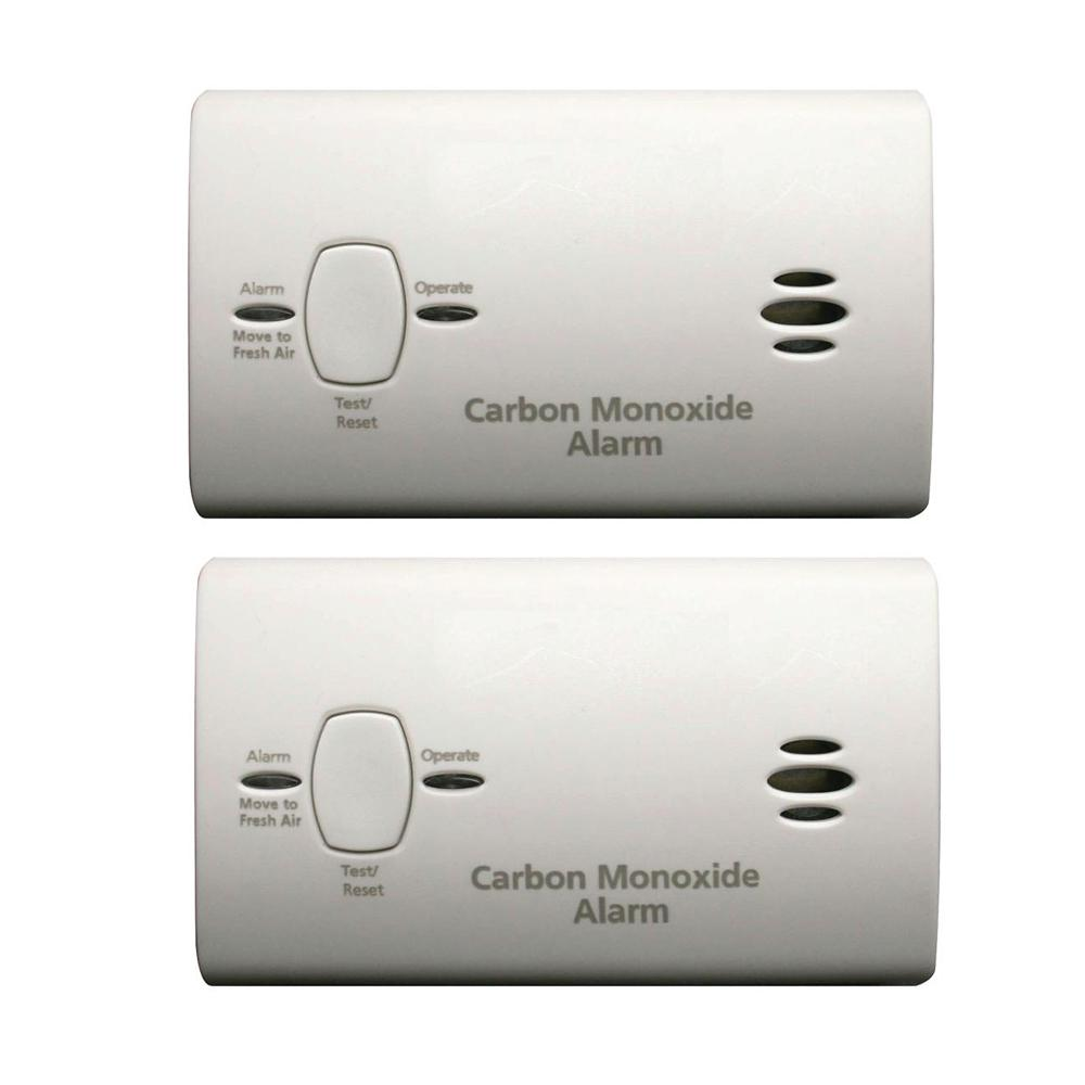 Kidde Battery Operated Carbon Monoxide Detector 2pack21025792  The Home Depot