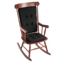 Gripper Embrace Black Tufted Rocking Chair Cushion Set ...