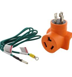 generator to dryer adapter 4 prong l14 30 30 amp generator plug to 3 prong dryer female connector adapter [ 1000 x 1000 Pixel ]