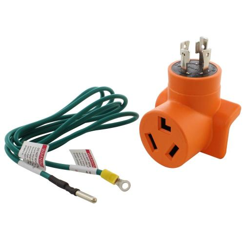 small resolution of generator to dryer adapter 4 prong l14 30 30 amp generator plug to 3 prong dryer female connector adapter
