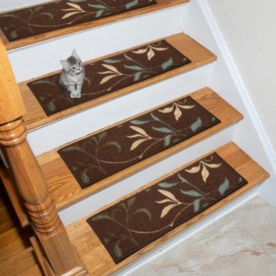 Modern Stair Tread Covers Rugs The Home Depot | Modern Carpet Stair Treads | Beige Carpet | Wood | Basement Stairs | Grey | Modern Trellis