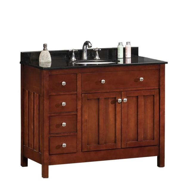 ove decors adam 42 in. w x 21 in. d vanity in dark cherry with