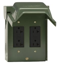 2 20 amp backyard outlet with gfci receptacles [ 1000 x 1000 Pixel ]