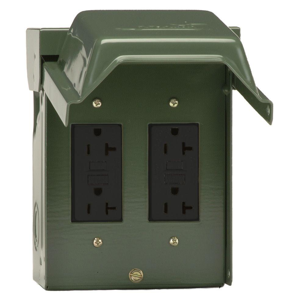 hight resolution of 2 20 amp backyard outlet with gfci receptacles