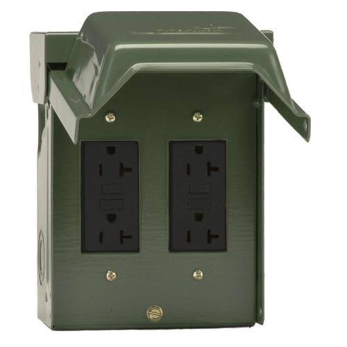 small resolution of 2 20 amp backyard outlet with gfci receptacles
