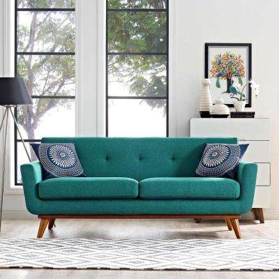 teal living room chair chandelier lights for small furniture the home depot engage upholstered fabric loveseat