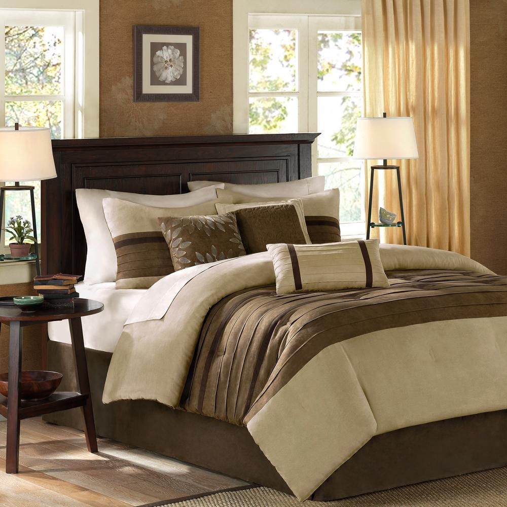 unbranded teagan 7 piece natural california king comforter set mp10 303 the home depot