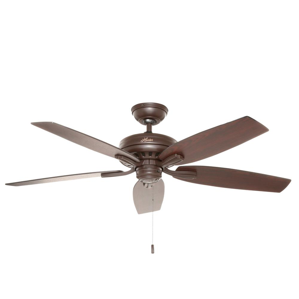 Hunter Hazelwood 52 in. Indoor Roman Bronze Ceiling Fan
