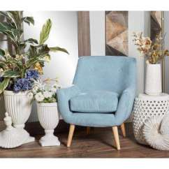 Blue Accent Chairs For Living Room Seating Ideas Small Modern Wood The Home Depot Light Fabric And