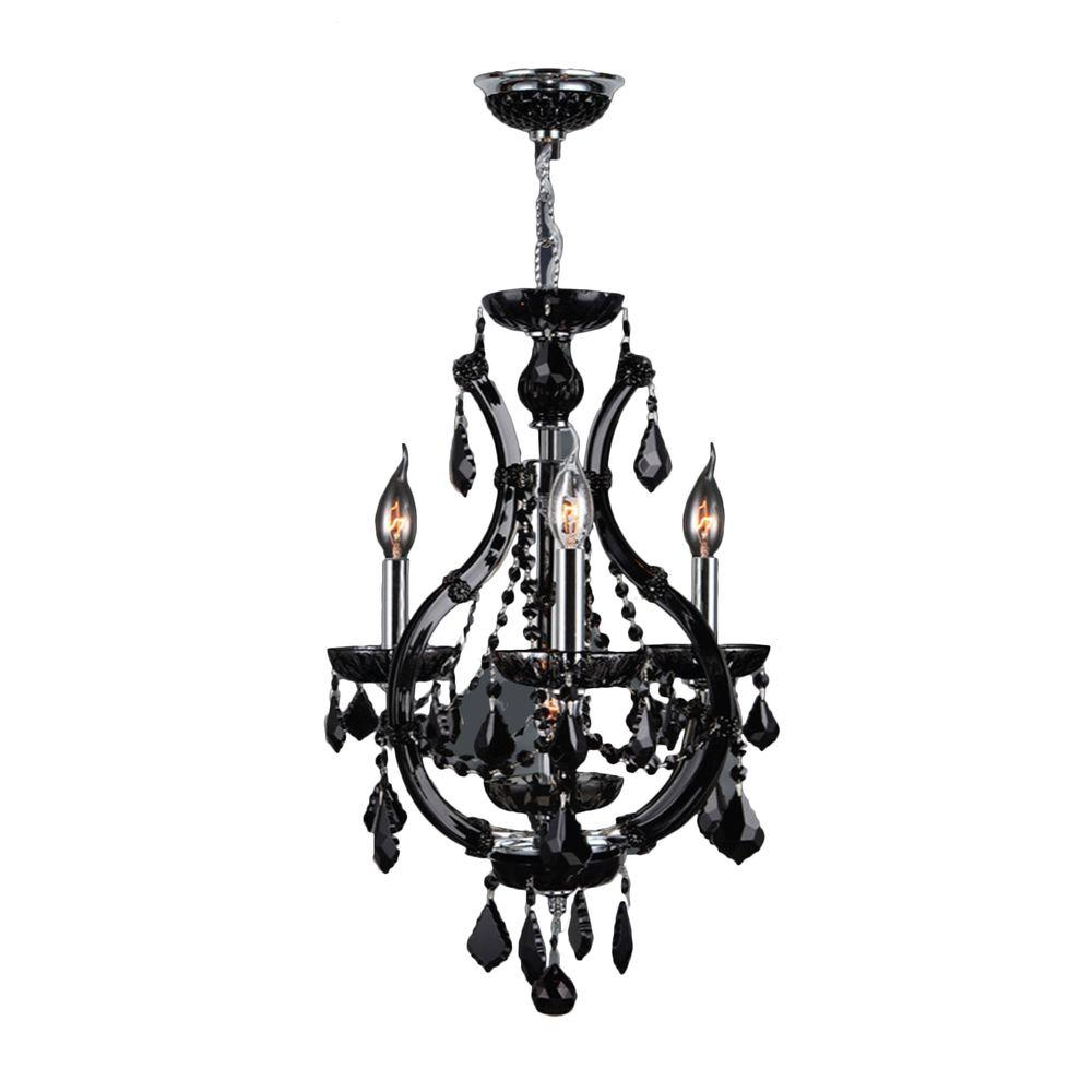 Worldwide Lighting Lyre Collection 4-Light Chrome with
