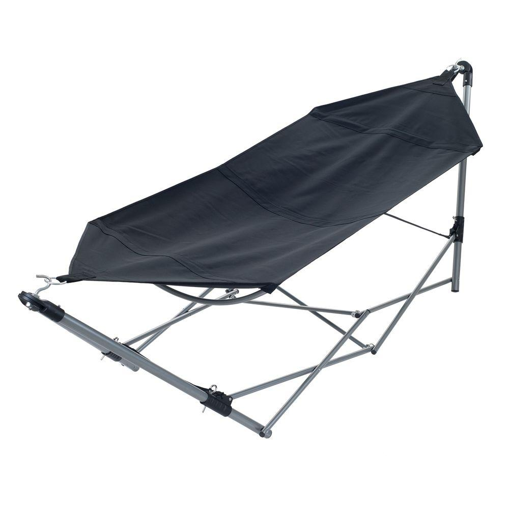 swing chair with stand malaysia cover hire gillingham pure garden 8 ft portable hammock 9 frame and carrying bag in black