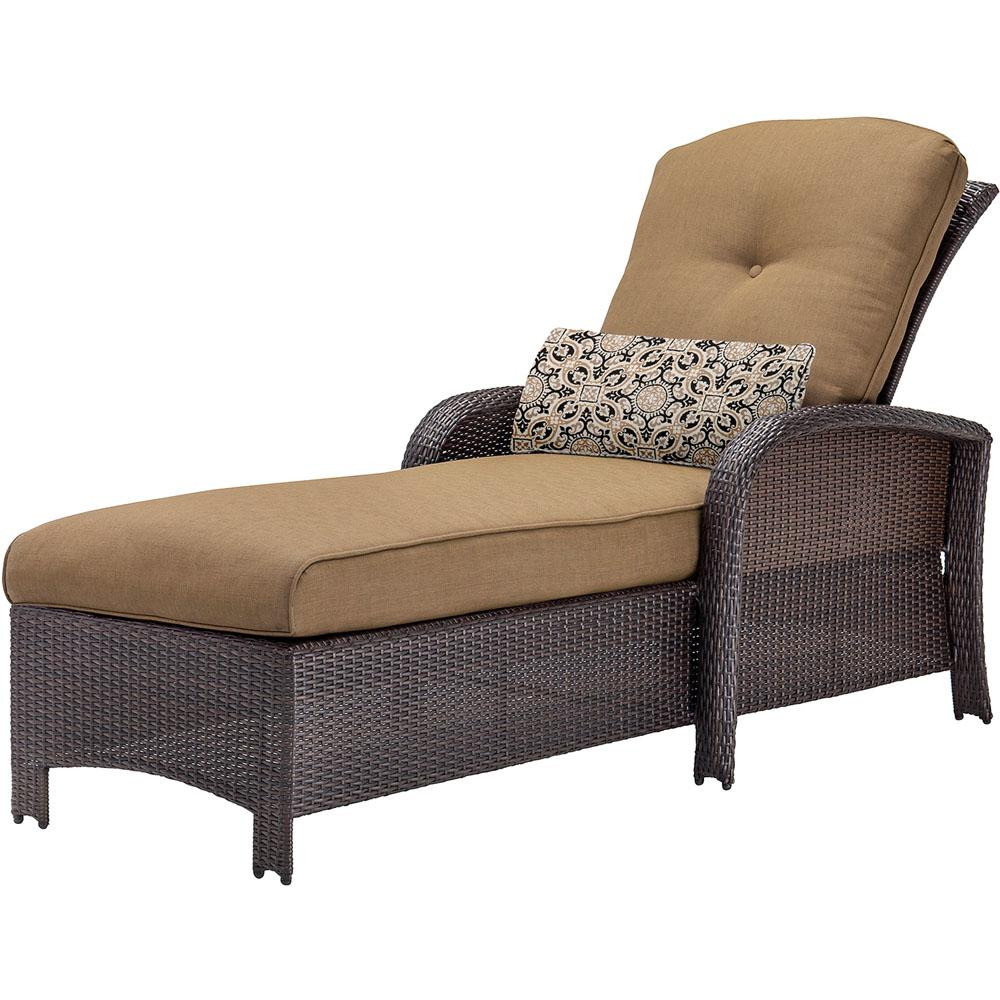 Cambridge Corolla Wicker Outdoor Chaise Lounge with Tan