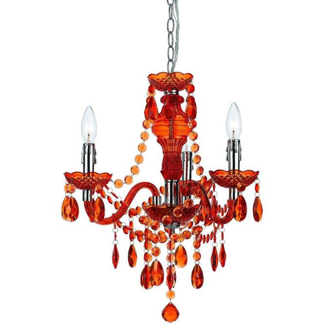 Af Lighting Fulton 3 Light Orange Mini Chandelier