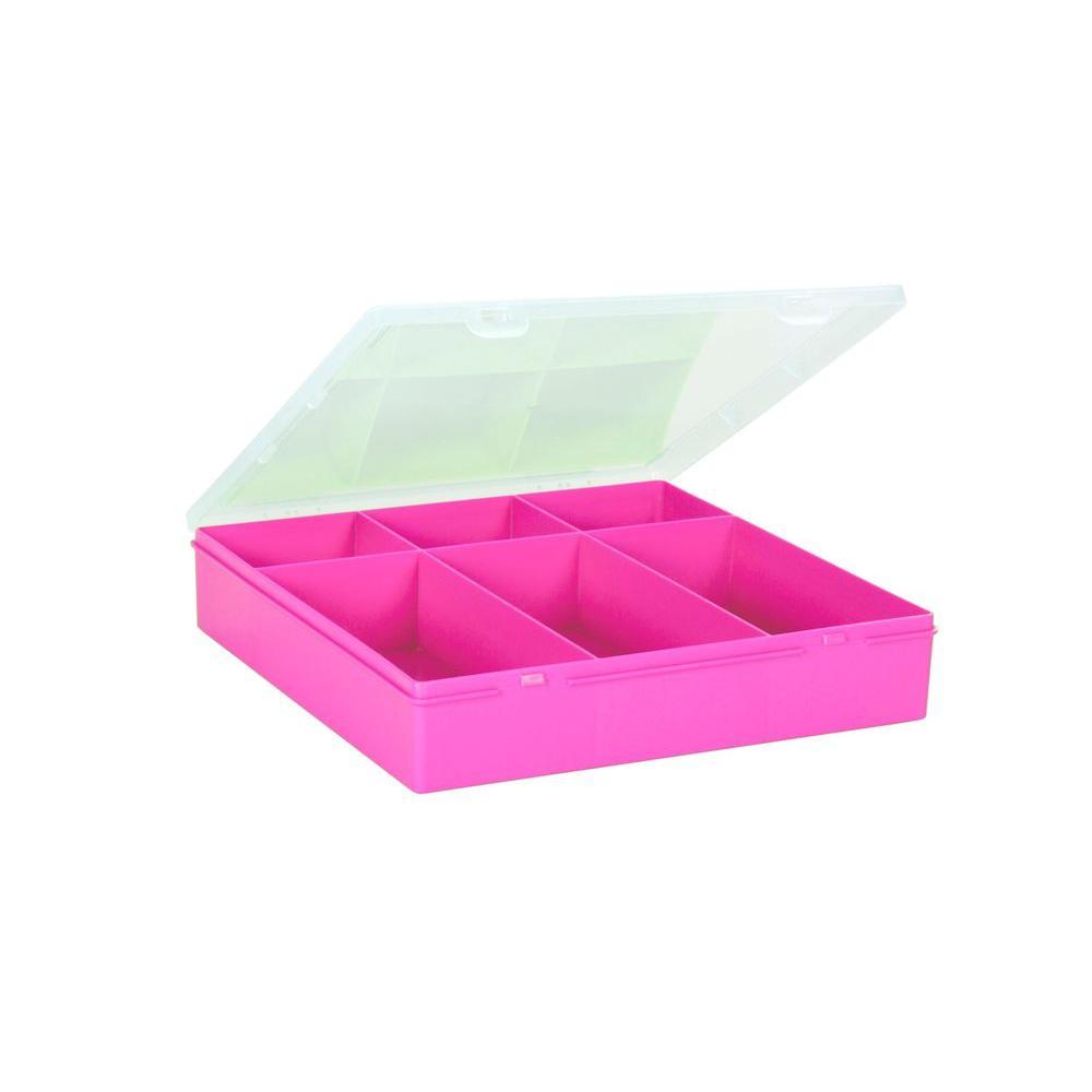 Wham 11 5 In Square Organizer Box In Fuchsia 23257 The Home Depot