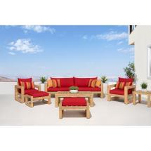 Rst Brands Benson 8-piece Wood Patio Conversation Set With