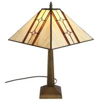 Amora Lighting 20 in. Tiffany Style Mission Table Lamp